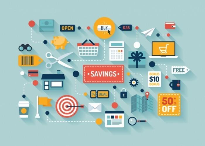 photodune 6590772 700x499 Торгово   экономическая иллюстрация   Commerce and savings flat illustration