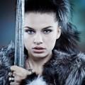Девушка в мехах с мечом - Girl in furs with sword
