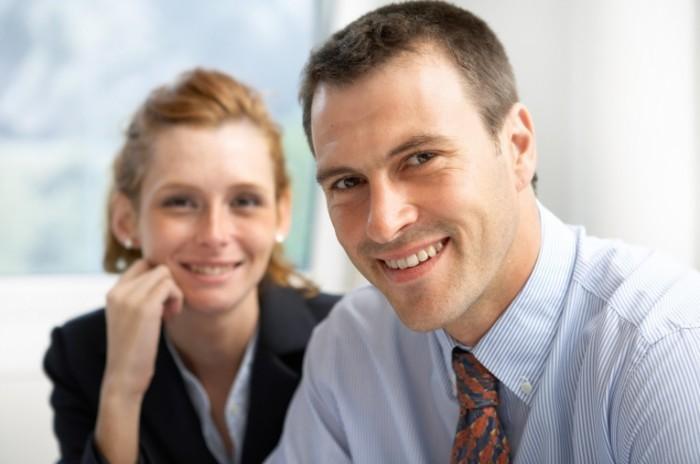 fotolia 20407001 m 700x464 Пара деловых людей   Couple of business people
