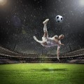 Футболист на поле - Soccer player on the field