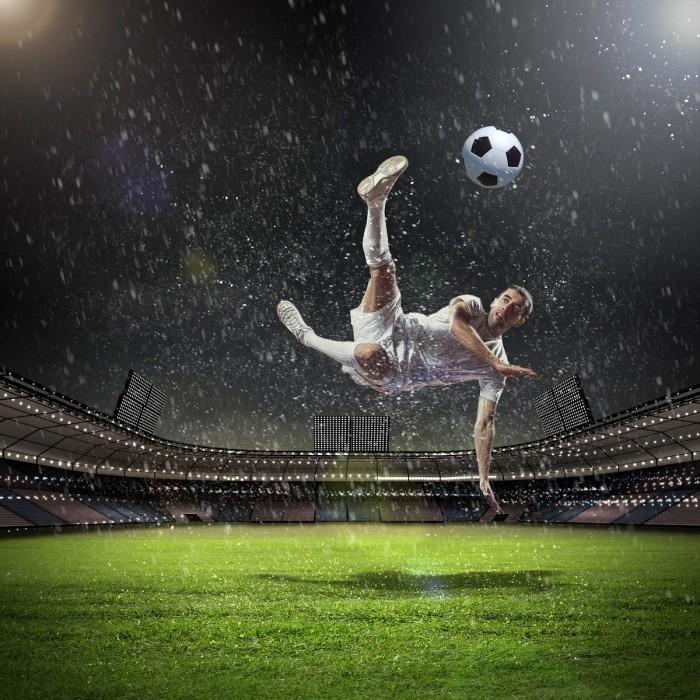 shutterstock 127844096 700x700 Футболист на поле   Soccer player on the field