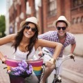 Пара на велосипедах - Couple on bikes
