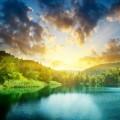 Пейзаж озера - Landscape of lake