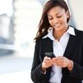 Бизнес леди с телефоном - Business woman with a phone