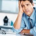 Уставший офисный работник - Tired office worker