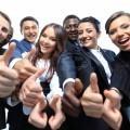 Веселые офисные работники - Cheerful office workers
