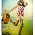 Путешественница с чемоданом - Traveler with a suitcase