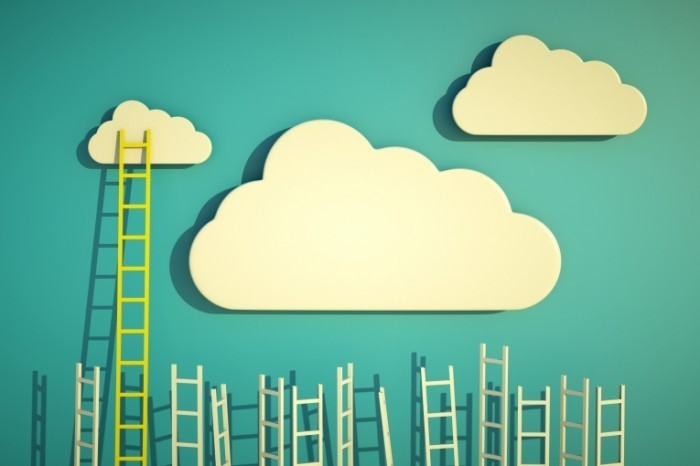 shutterstock 93841864 700x466 Облака с лестницей   Clouds with stairs