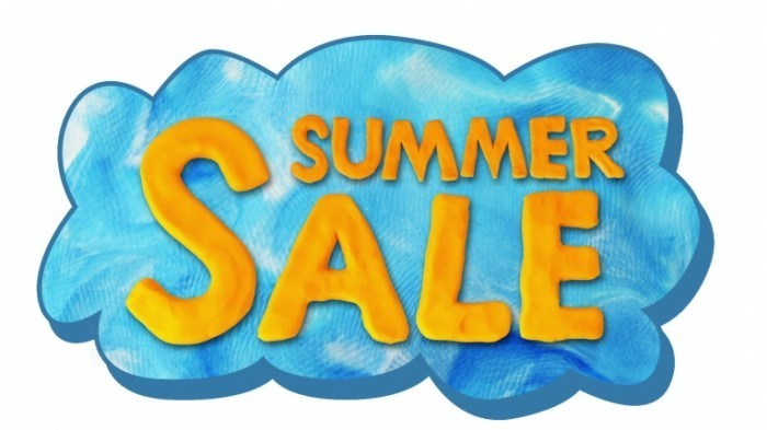 stock footage sale and summer text on cloud alpha matte stop motion 700x393 Летние продажи   Summer Sale