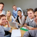 Студенты за компьютерами - Students at computers