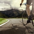 Велосипедист в горах - Cyclist in the mountains