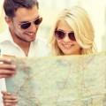 Туристы с картой - Tourists with map