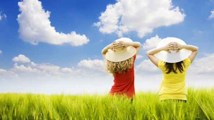 cute nature HD 700x393 Девушки в шляпах   Girls in hats