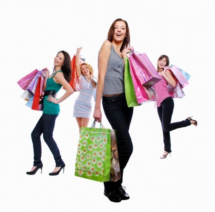 Девушки на шоппинге   Girl on a shopping