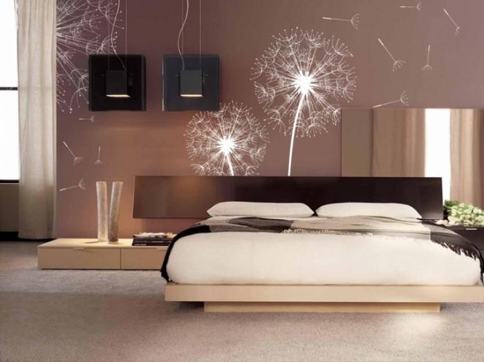 shutterstock 23756168 decor fotooboi v interyere 700x524 Интерьер спальни   Interior bedroom