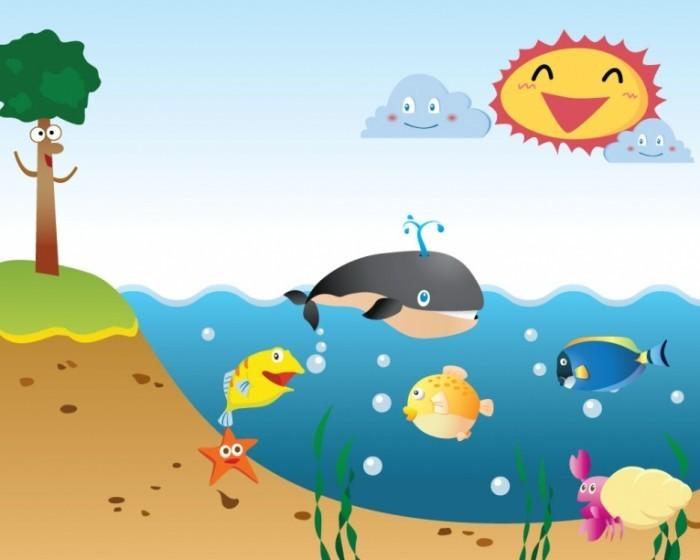 shutterstock 24967930 700x560 Морская анимация   Fried fish