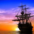 Корабль в море - Ship at sea