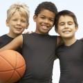 Ребята с баскетбольным мячом - Guys with a basketball