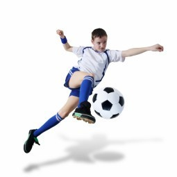 Футболист с мячом - Soccer player with ball