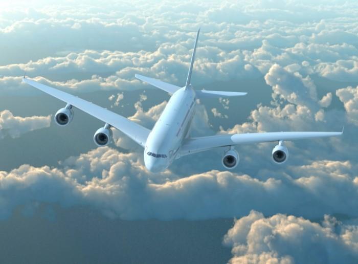shutterstock 129847202 700x516 Самолет в небе   Plane in the sky