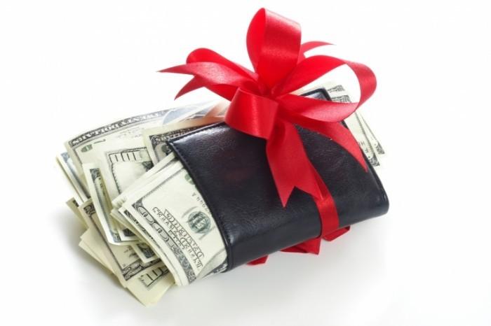 Подарок чтоб водились деньги