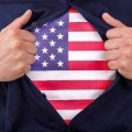 Футболка с американским флагом - T-shirt with the American flag