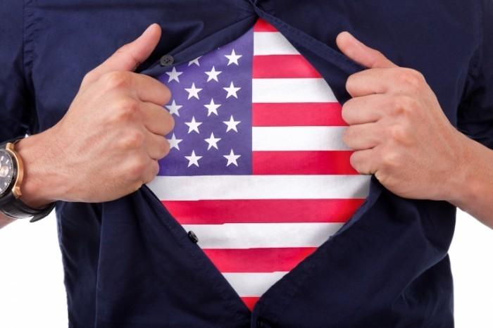Fotolia 59526809 Subscription Monthly M 700x466 Футболка с американским флагом   T shirt with the American flag