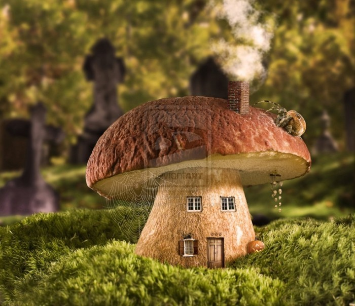 autumn home by treason1 d2ccoxt 700x604 Грибной дом   Mushroom house