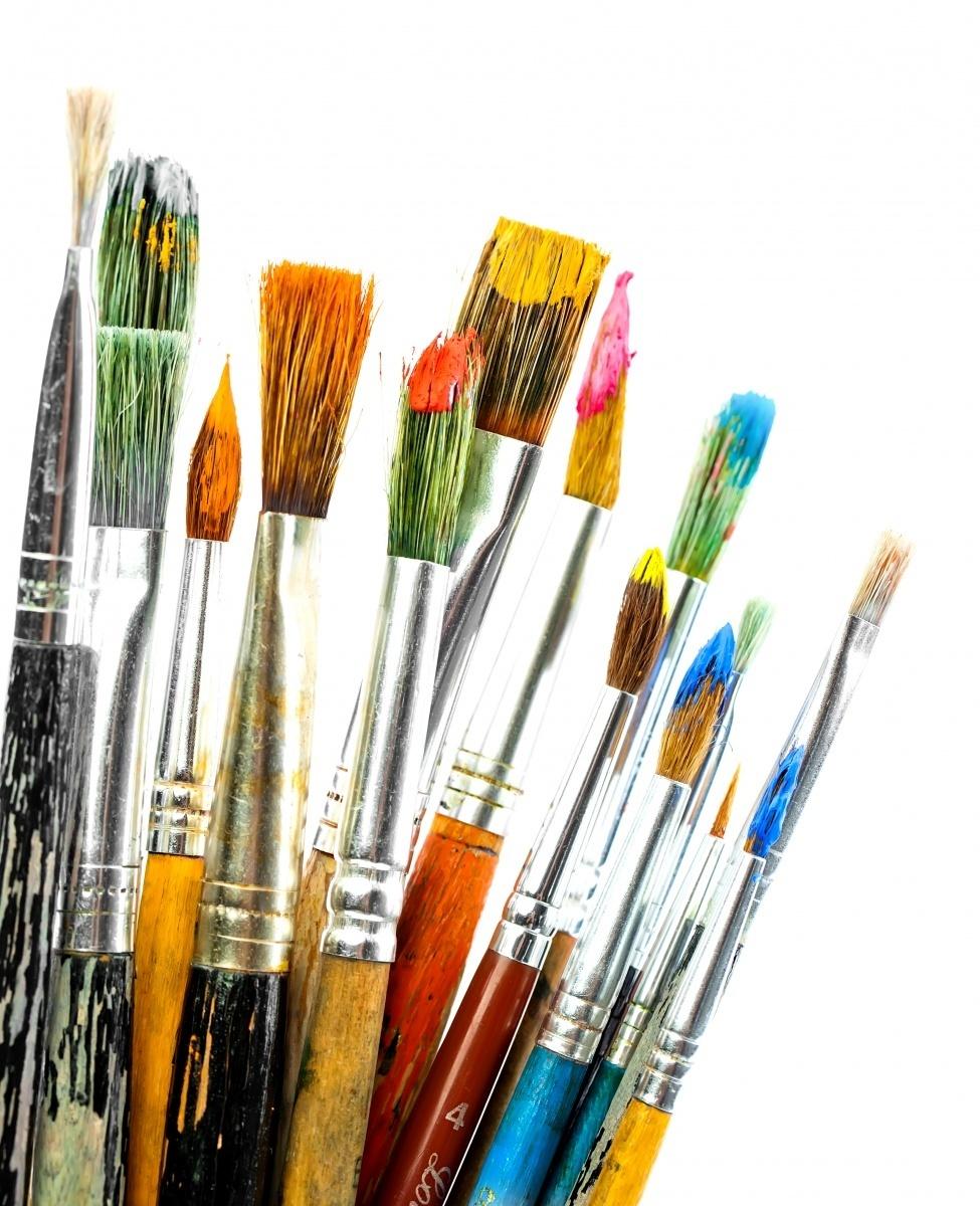 картинки кисти и краски для рисования можно