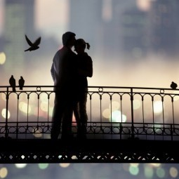 Пара на мосту - Couple on bridge