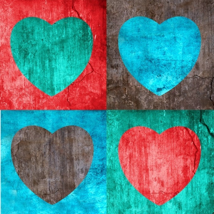 Richard Fotolia.com  700x700 Фон из сердец   Background of hearts