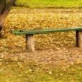 Лавочка в осенних листьях - Bench in autumn leaves