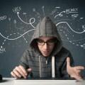 Хакер за компьютером - Сomputer hacker