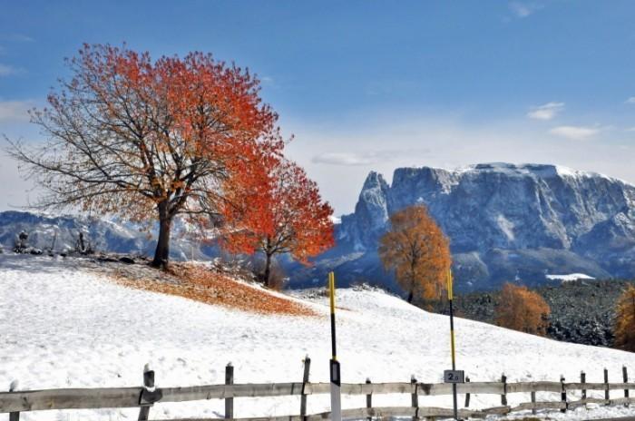 Зимние горы   Winter mountains