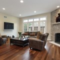 Гостиная с камином - Living room with fireplace