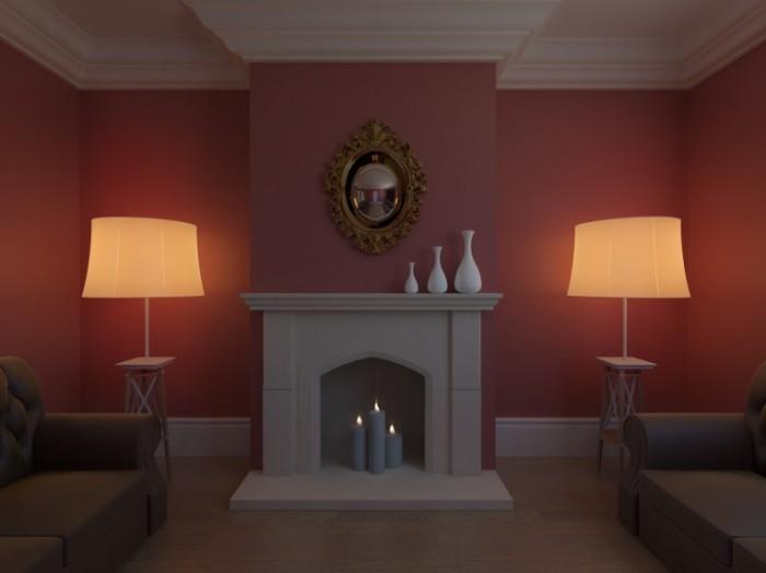 Fotolia 43665461 Subscription Monthly L 700x524 Гостиная с камином   Living room with fireplace