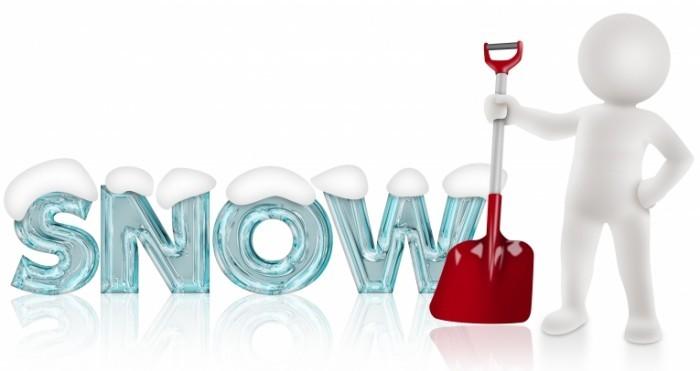 SnowShovel shutterstock 118871134 700x371 Снежный человек с лопатой   Snowman with a shovel