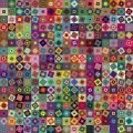 Яркий фон квадратиков - Bright background squares