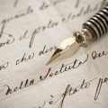 Письмо с пером - Letter with a pen