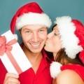 Пара в новогодних колпаках - Couple in Winter Hat
