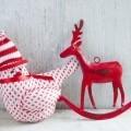 Новогодняя декорация с оленем - Christmas decoration with a deer