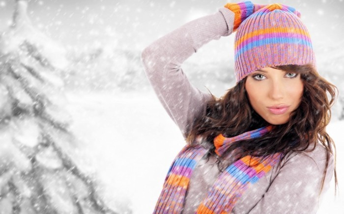 winter pictar.ru  21  700x437 Красивая девушка   Beautiful girl