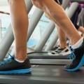 Ноги на беговой дорожке - Feet on the treadmill