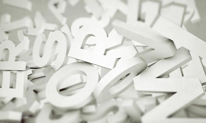 shutterstock 117895975 700x420 Белые буквы   White letters