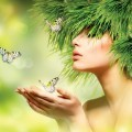Девушка с бабочками - Girl with butterflies
