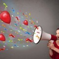 Девушка с рупором - Girl with megaphone