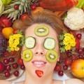 Лицо с маской из овощей - Face with a mask made of vegetables
