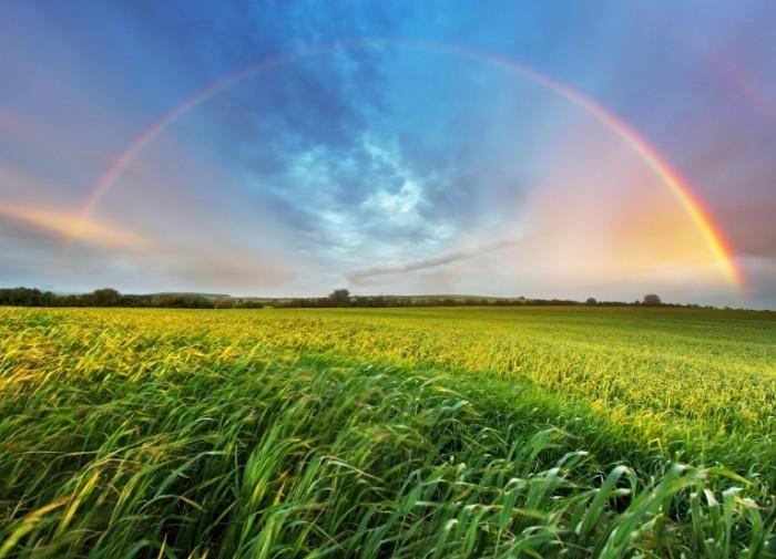 Dollarphotoclub 66581409 700x505 Пейзаж с радугой   Landscape with a Rainbow