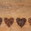 Сердечки из зерен кофе - Hearts of coffee beans