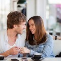 Пара в кафе - Couple in cafe